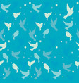 pattern birds background vector image