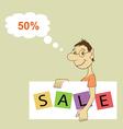 Sale Promotion Design Template vector image