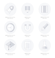 school Web icons set line icons style vector image