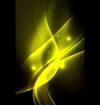 Smoky glowing waves in the dark vector image