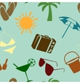 Summer and beach seamless pattern vector image