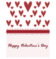Valentines day lace heart vector image