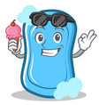 with ice cream blue soap character cartoon vector image