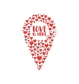 doodle icon map pointer with heart vector image vector image