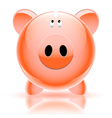 piggy bank red vector image vector image