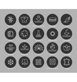 Fabric feature line icons set vector image
