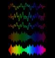 sound wave icon set vector image