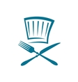 Doodle restaurant sign with knife fork and glass vector image