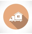 Motorhome car icon vector image