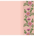 background frame of flowers vector image vector image