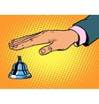 reception Desk call bell hand vector image