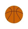 Basketball ball flat icon vector image