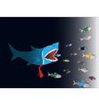 Business World Big fish eat small fish vector image