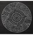 chalkboard circle sketch background vector image