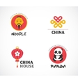 Chinese restaurant and coffee shops icons menu vector image