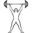 powerlifting vector image