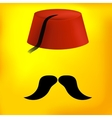 Red Turkish Hat vector image