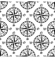 Seamless vintage navigation compass pattern vector image