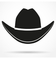 Silhouette symbol of cowboy hat vector image