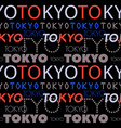 tokyo city pattern vector image
