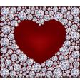 Heart of Diamonds vector image vector image