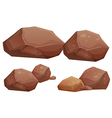Big and small rocks vector image
