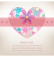 Romantic pink greeting card vector image