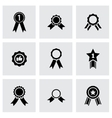 black award medal icon set vector image vector image