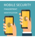 Mobile Internet Secutiry fingerprint vector image
