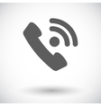 Phone single flat icon vector image vector image