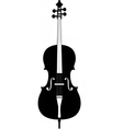 cello silhouette vector image