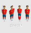 Spain Soccer Team Sportswear Template vector image