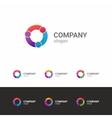 Colorful business template logo vector image