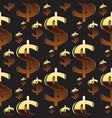 dollar emblem pattern vector image