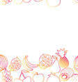 Fruit seamless border pattern The image of fruits vector image