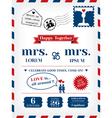 Lesbian Wedding Invitation vector image
