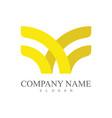 letter w ribbon company logo vector image