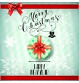 Lettering Merry Christmas vector image