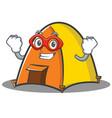 super hero tent character cartoon style vector image