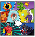 superheroes comic page template vector image
