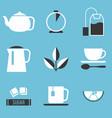 tea preparation icon vector image