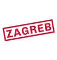 Zagreb rubber stamp vector image