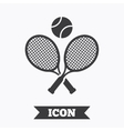 Tennis rackets with ball sign icon Sport symbol vector image