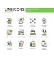 Internet - flat design line icons set vector image