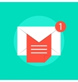mail notice with white letter and red sheet vector image vector image