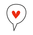 icon heart vector image