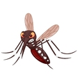 Angry mosquito cartoon vector image vector image