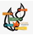 Autumn option infographic banner minimal design vector image