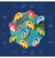 Social media network concept with users Flat vector image