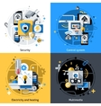 Smart House Icons vector image vector image